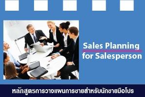 หลักสูตรฝึกอบรม : การวางแผนการขายสำหรับนักขายมือโปร